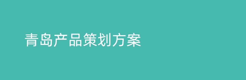 青岛产品策划方案的具体内容